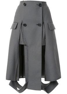 Maison Margiela houndstooth print button up skirt