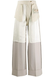 Maison Margiela inside-out wide leg trousers
