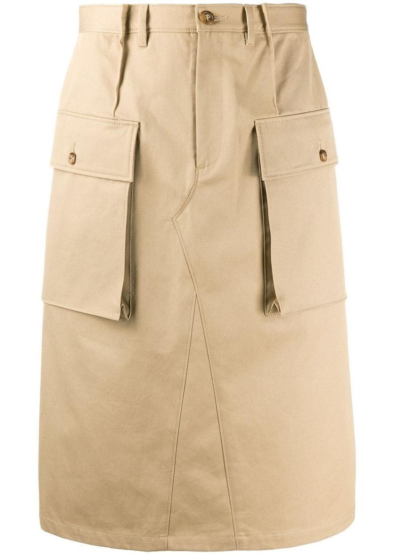 Maison Margiela knee-length cargo skirt
