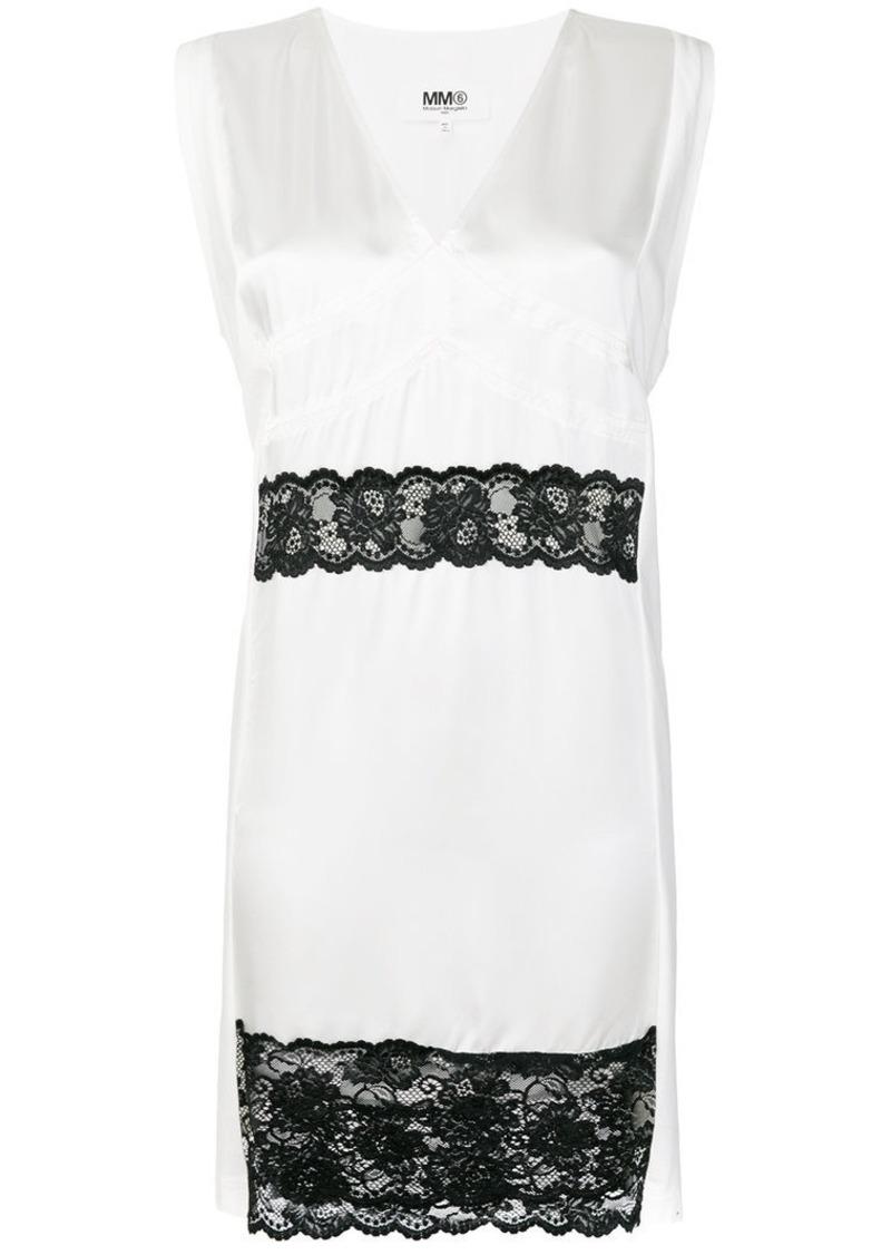 Maison Margiela lace trim dress