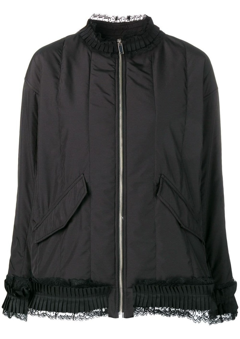 Maison Margiela lace trim jacket
