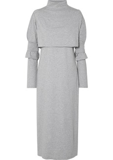 Maison Margiela Layered Cotton-jersey Turtleneck Midi Dress