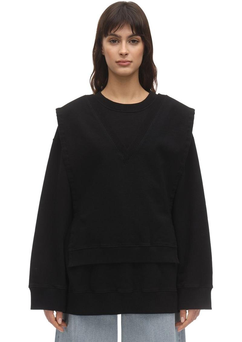 Maison Margiela Layered Cotton Sweatshirt