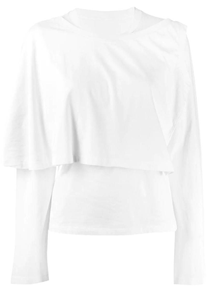 Maison Margiela layered jersey top