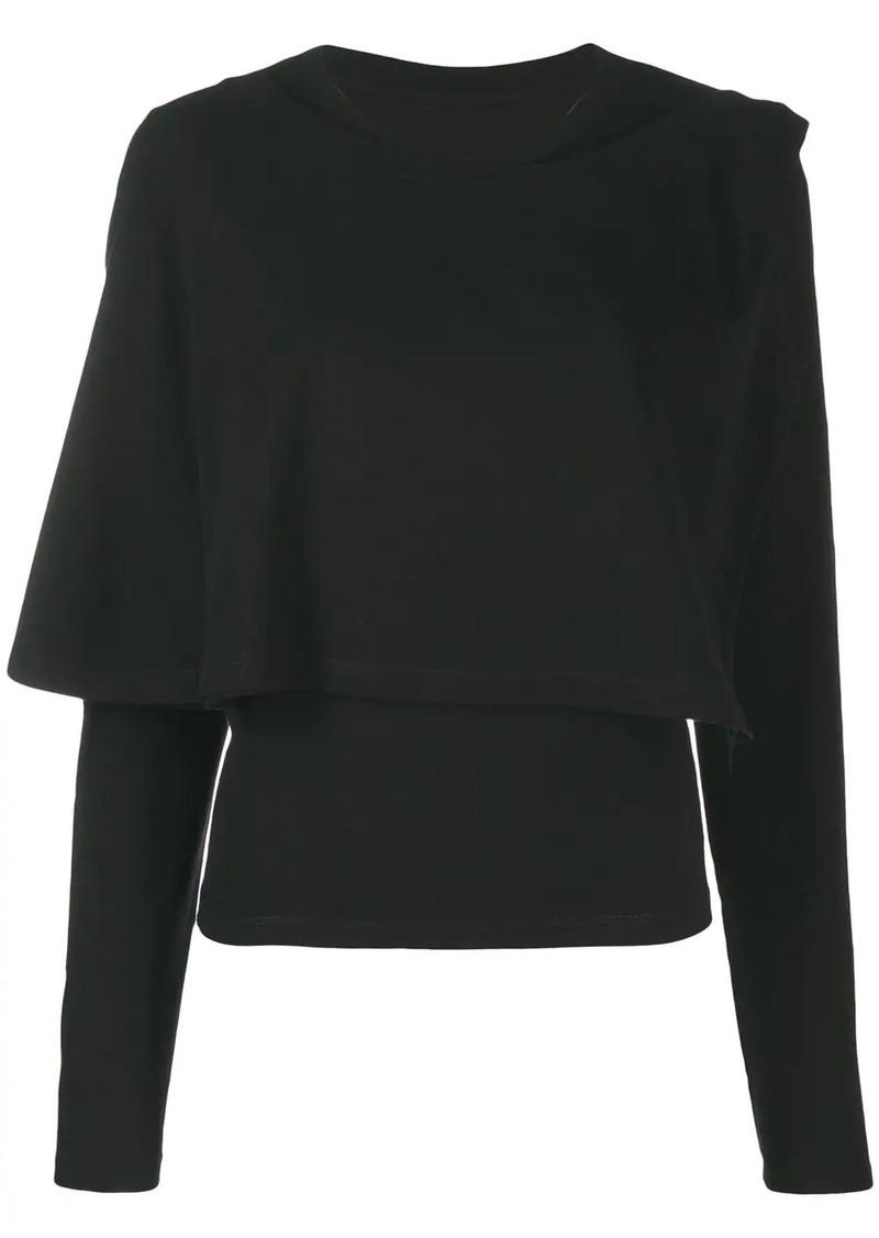 Maison Margiela layered long sleeved top