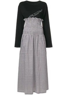 Maison Margiela layered look maxi dress