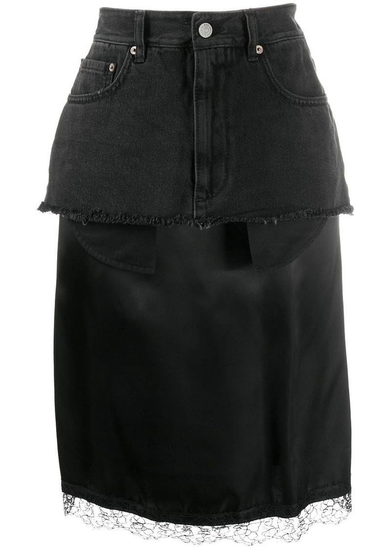 Maison Margiela layered midi skirt