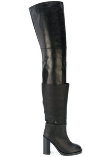 Maison Margiela layered over the knee boots