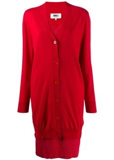 Maison Margiela layered V-neck knitted dress