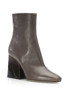 Maison Margiela Leather Chunky Heel Mid-Calf Boots