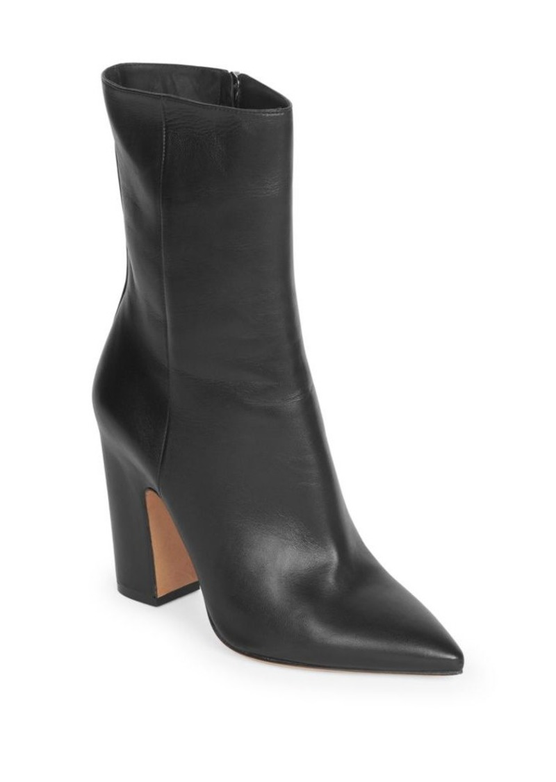 Maison Margiela Leather Point Toe Booties