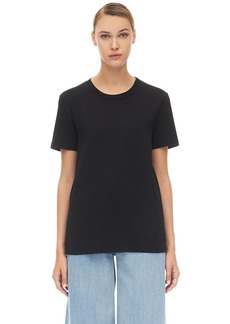 Maison Margiela Logo Embroidered Cotton Jersey T-shirt