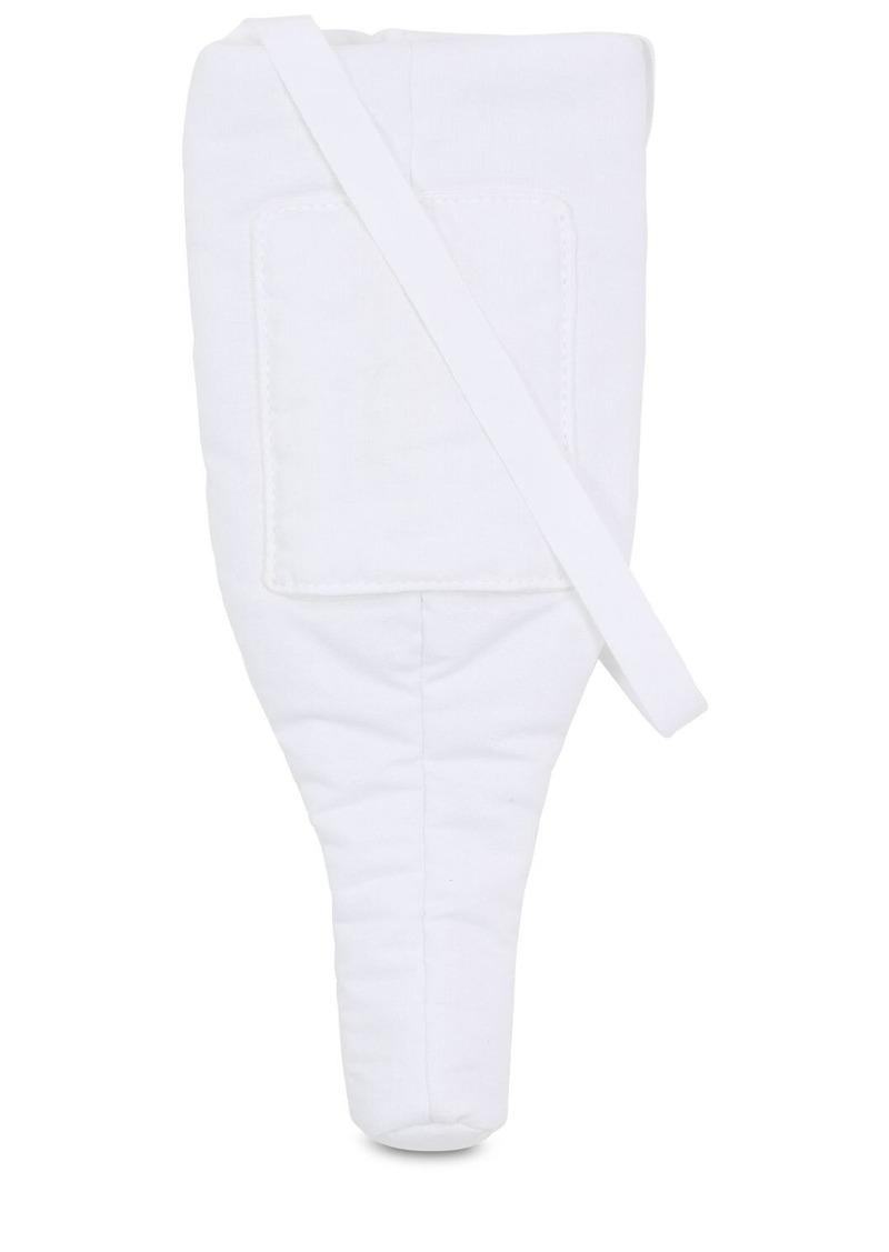 Maison Margiela Logo Embroidered Padded Cotton Bag
