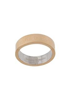 Maison Margiela logo-engraved thick-band ring