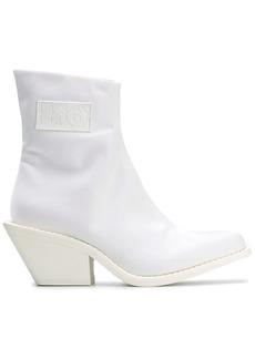 Maison Margiela logo patch ankle boots