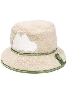 Maison Margiela logo patch fluffy bucket hat