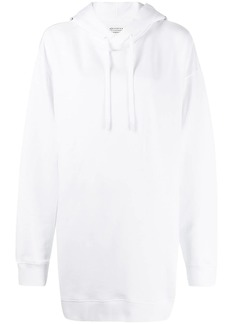 Maison Margiela logo print hoodie dress