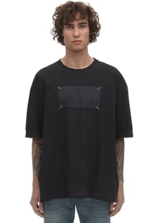 Maison Margiela Logo Print Stitched Cotton T-shirt