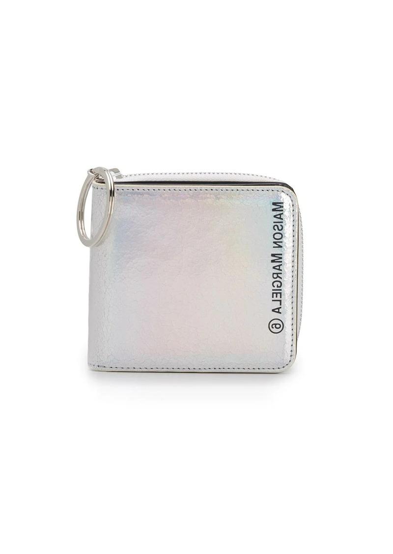 Maison Margiela logo-printed iridescent wallet