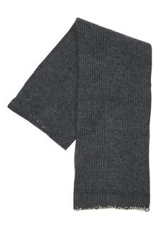 Maison Margiela Logo Stitch Wool Blend Scarf