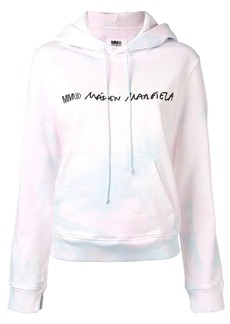 Maison Margiela logo tie-dye hoodie