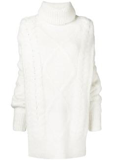 Maison Margiela long chunky knit sweater