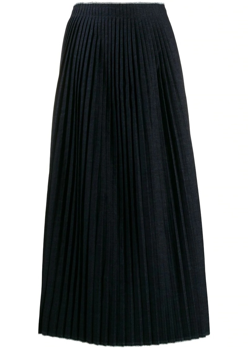 Maison Margiela long pleated knitted skirt