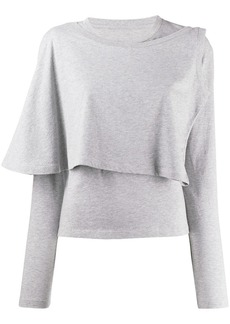 Maison Margiela long sleeved knitted top