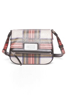 Maison Margiela 5AC Tartan Print Leather Shoulder Bag