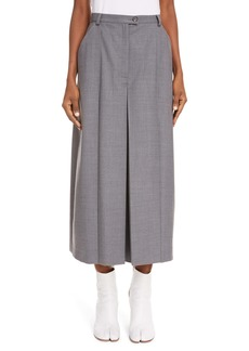 Maison Margiela A-Line Flannel Midi Skirt