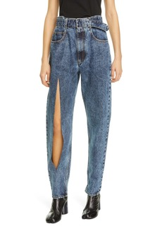 Maison Margiela Acid Wash Belted High Waist Jeans