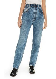Maison Margiela Acid Wash Belted High Waist Jeans