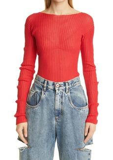Maison Margiela Asymmetrical Ribbed Sweater