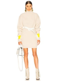 Maison Margiela Banded Sleeve Turtleneck Sweater Dress
