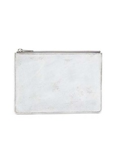 Maison Margiela Bianchetto-painted faux-leather pouch