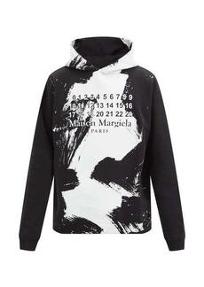 Maison Margiela Brushstroke logo cotton-jersey hooded sweatshirt