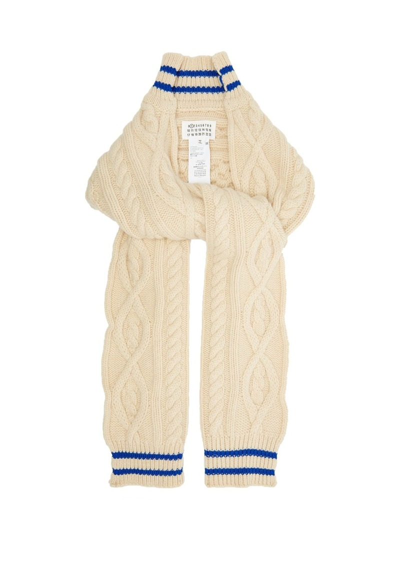 Maison Margiela Cable-knit cricket-inspired scarf