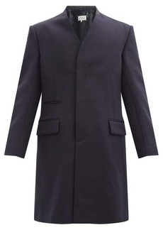 Maison Margiela Cavalry collarless virgin-wool coat
