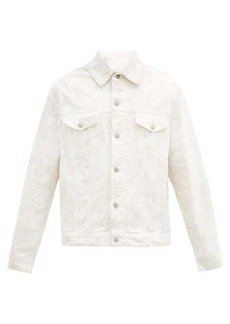 Maison Margiela Chalk-effect marbled cotton-twill jacket