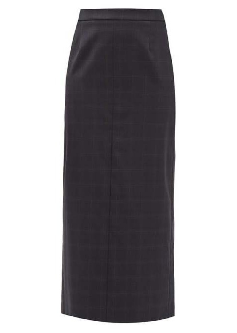 Maison Margiela Checked wool-blend maxi skirt