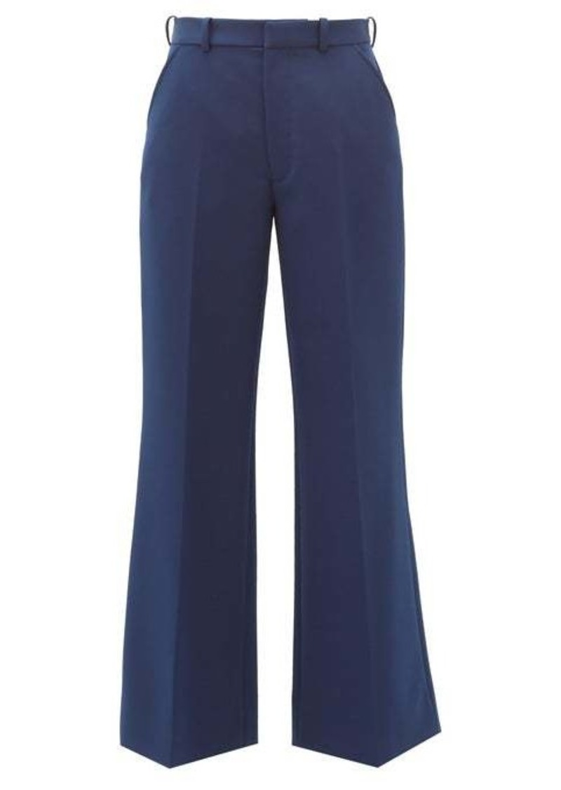 Maison Margiela Cropped twill tailored trousers