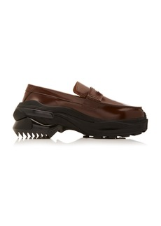 Maison Margiela Cross Leather Penny Loafers