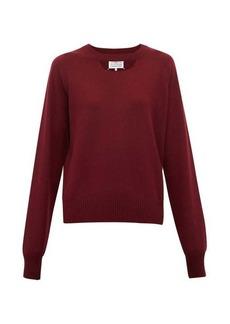 Maison Margiela Cut-out wool sweater