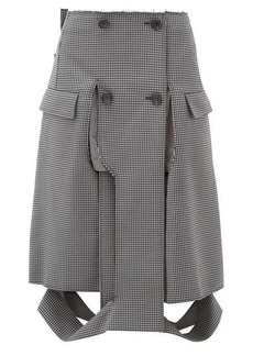 Maison Margiela Deconstructed houndstooth pencil skirt