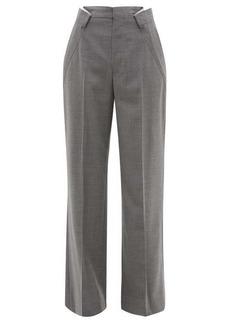 Maison Margiela Distorted-pleat wool-blend trousers