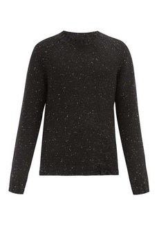 Maison Margiela Distressed speckled wool-blend sweater