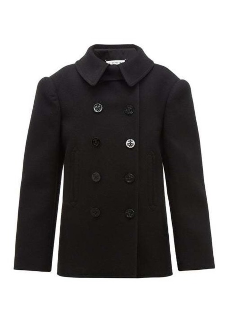 Maison Margiela Double-breasted felted wool pea coat