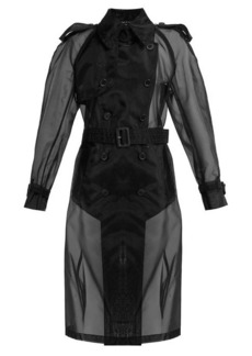 Maison Margiela Double-breasted organza trench coat