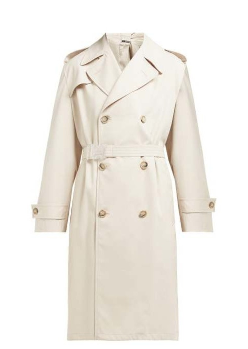 Maison Margiela Double-breasted twill trench coat