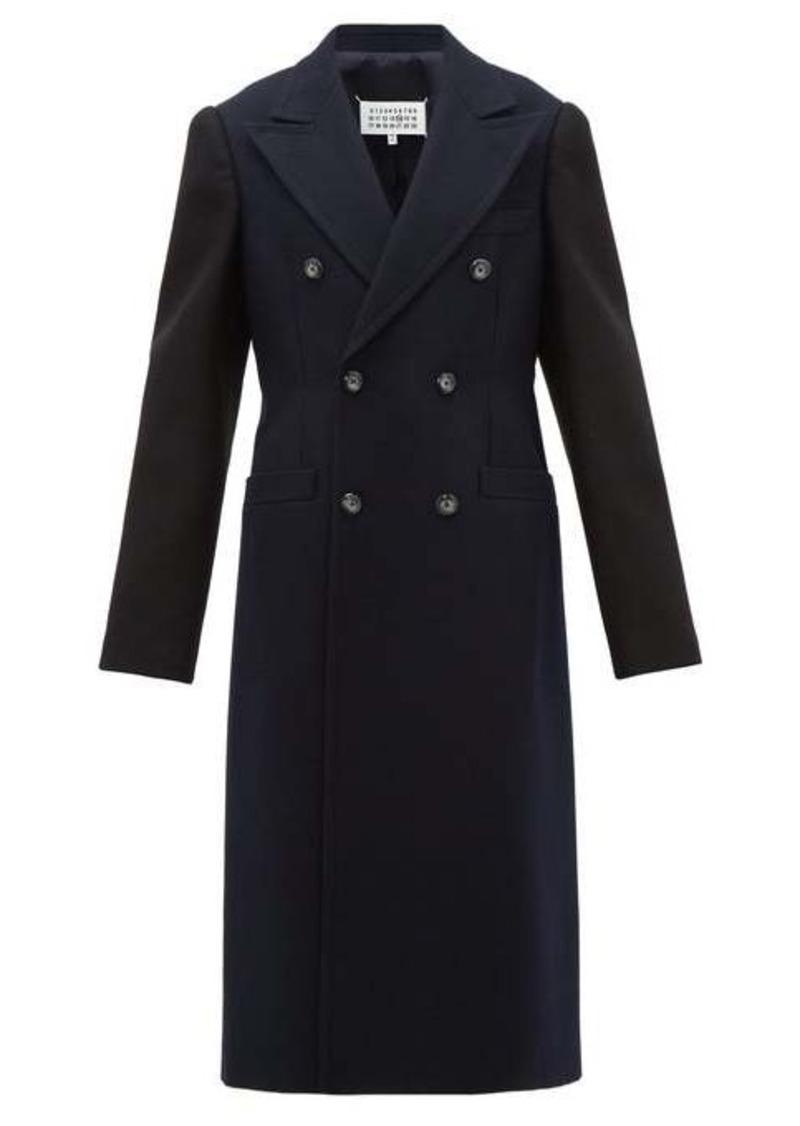 Maison Margiela Double-breasted wool overcoat